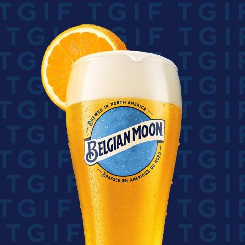 When life gives you oranges, you take the oranges, and you put them in a tall glass of Belgian Moon.